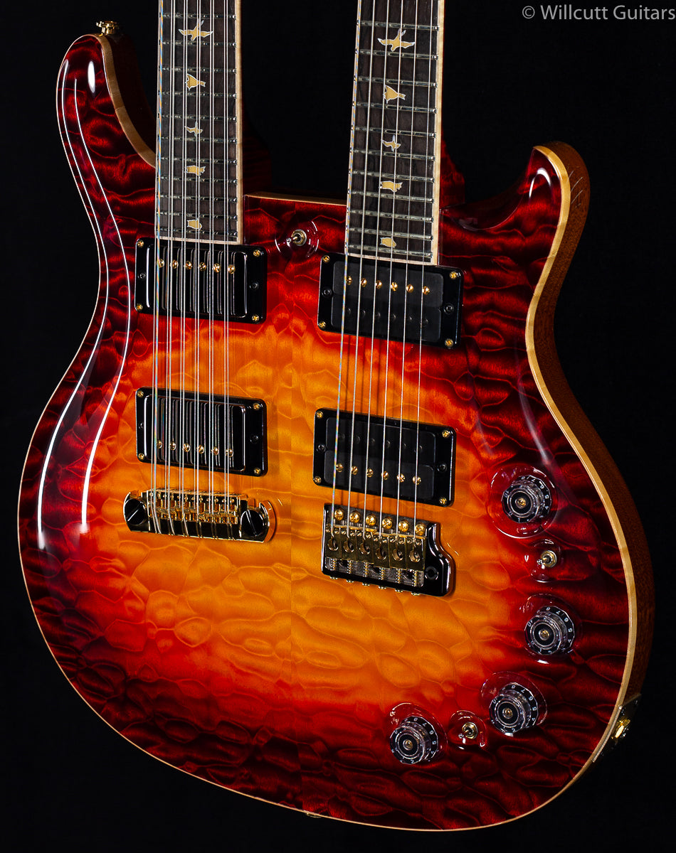 PRS Private Stock 8139 Custom 24 Double Neck Dragon's Breathe Glow