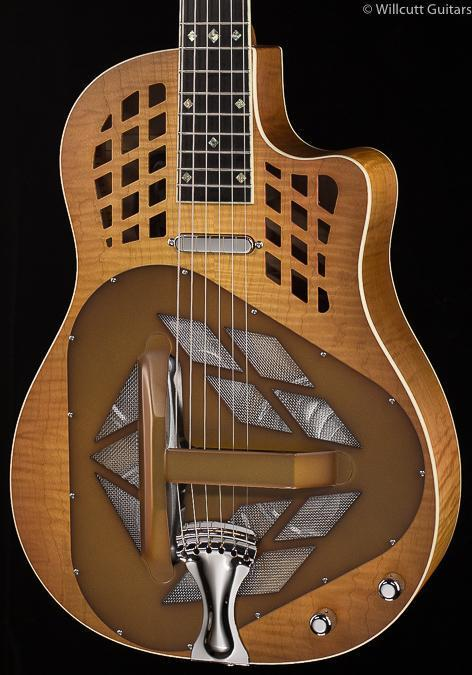 National M-1 Tricone Cutaway Flamed Maple (160)