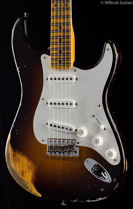 Fender Custom Shop 1955 Strat Relic Wide Fade Chocolate 2-Tone Sunburst (109)