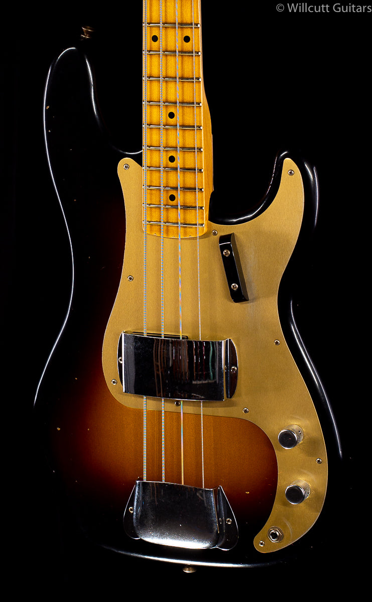 Fender Custom Shop 1957 Precision Bass Journeyman Relic Wide Fade 2-Tone Sunburst (857)