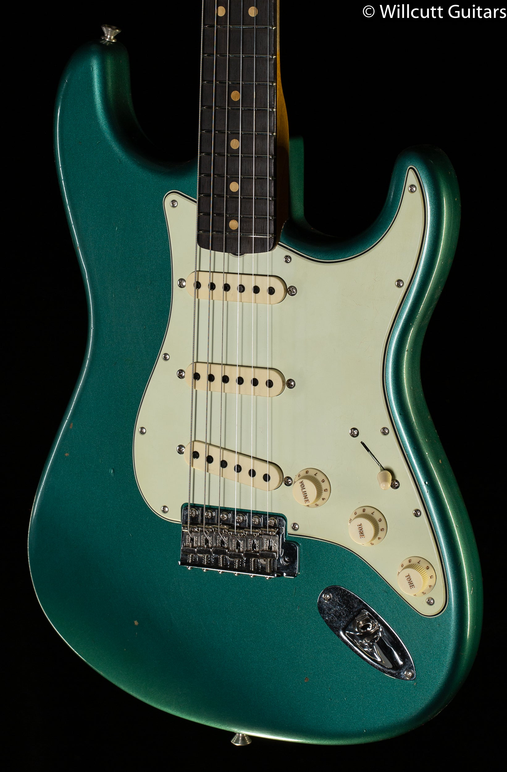 Fender Custom Shop 1963 Stratocaster Journeyman Relic Closet Classic Hardware Faded Aged Sherwood Green Metallic