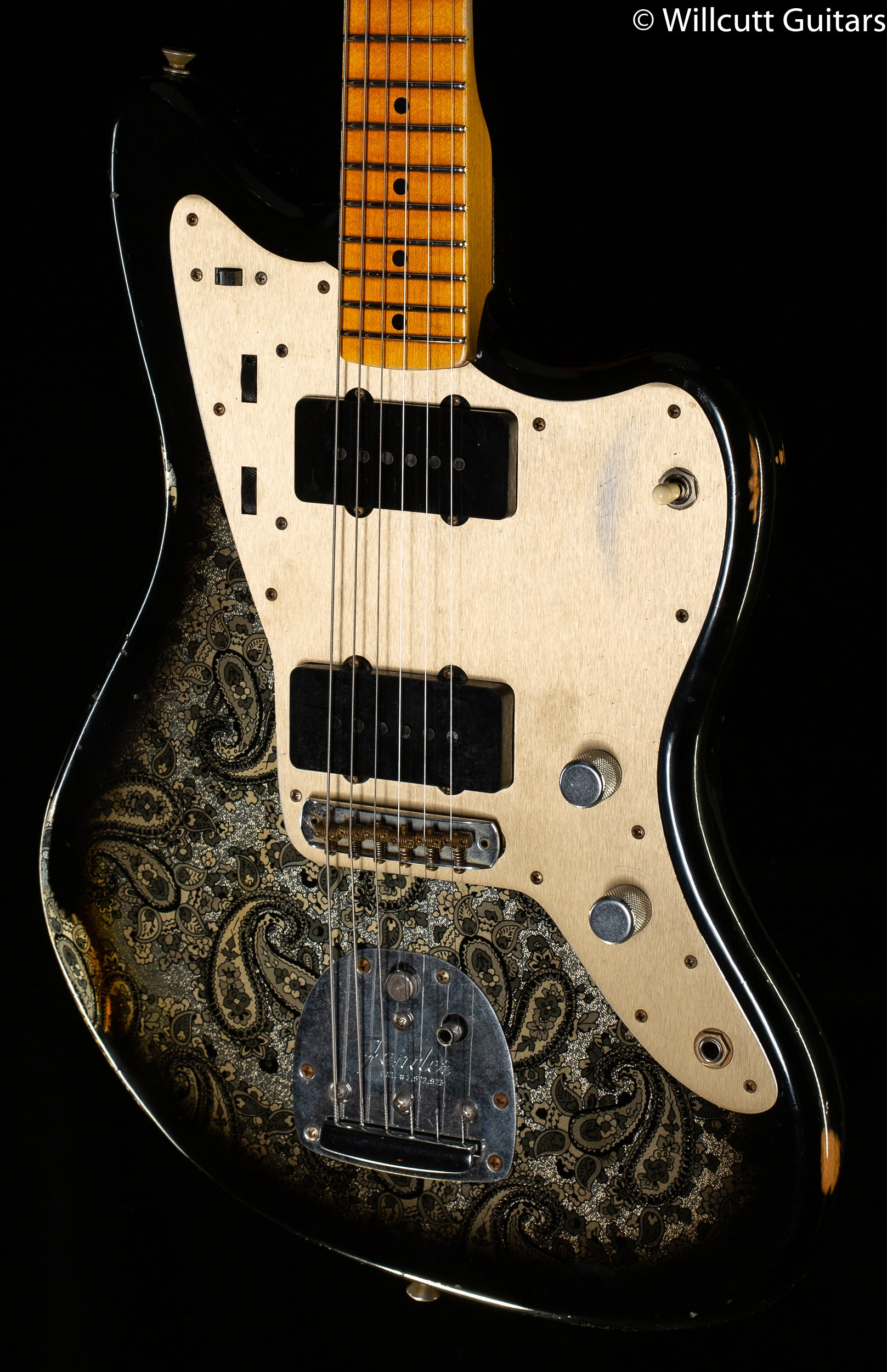 Fender Custom Shop Limited Edition Custom Jazzmaster Relic Maple Fingerboard Aged Black Paisley