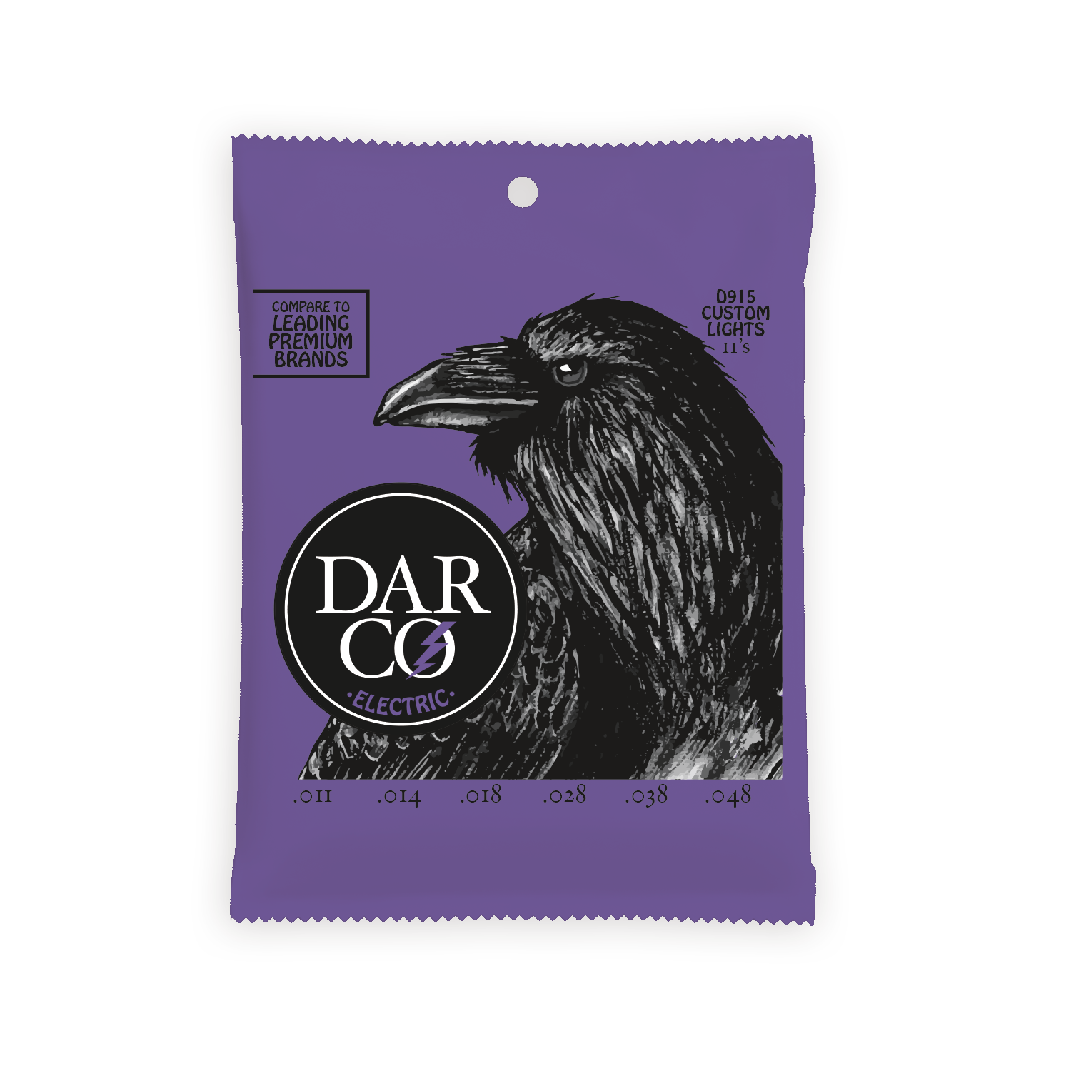 Darco Electric Guitar Strings .011-.048 Custom Light
