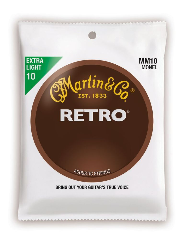 Martin Retro Acoustic Guitar Strings -.010-.047 Extra Light