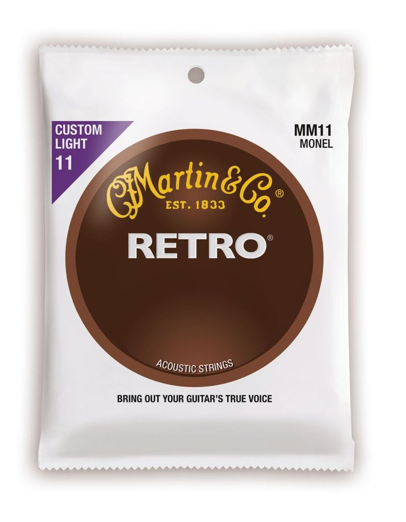 Martin Retro Acoustic Guitar Strings -.011-.052 Custom Light