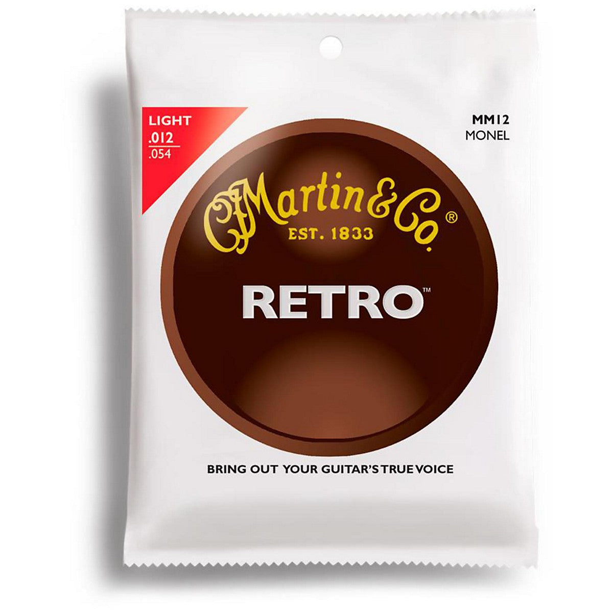 Martin Retro Acoustic Guitar Strings -.012-.054 Light