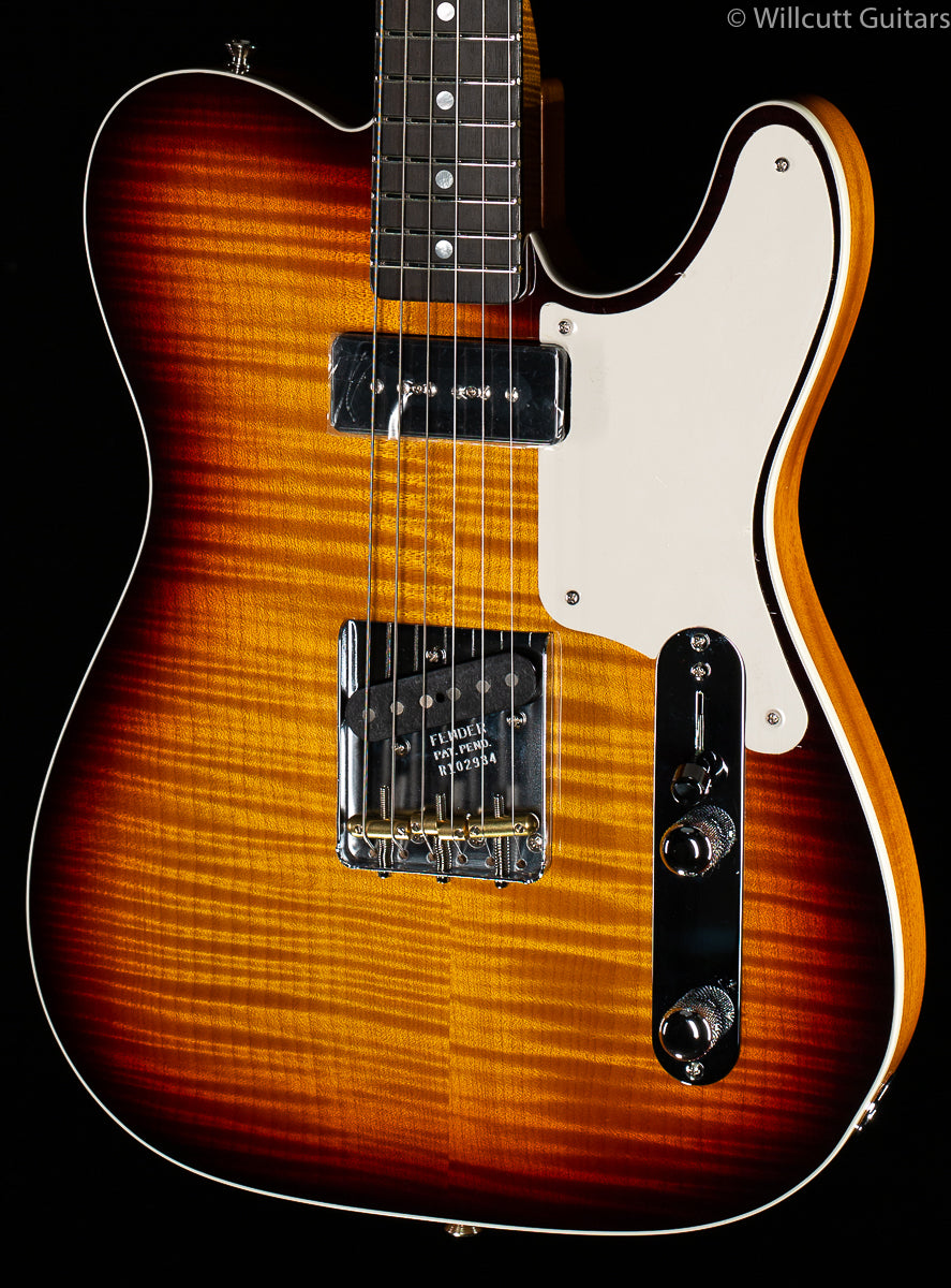 Fender Custom Shop Artisan P90 Flame Maple Telecaster Aged Antique Burst (934)