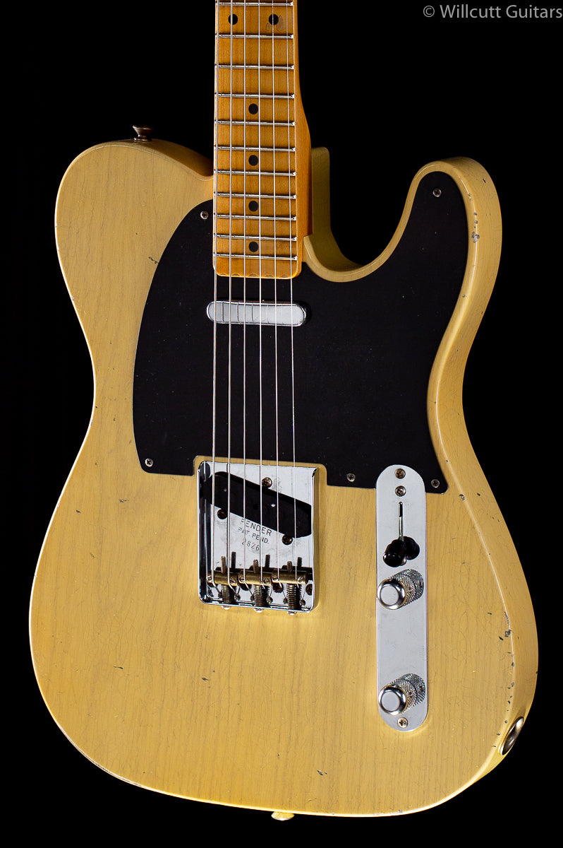 "Fender Custom Shop 4/54 Blackguard Tele Blonde Willcutt Limited 57 Soft ""V"""