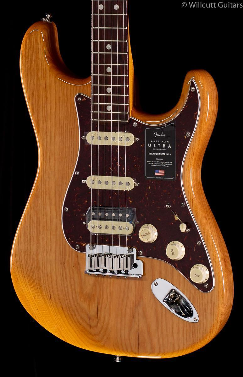 Fender American Ultra Stratocaster HSS Aged Natural (705)