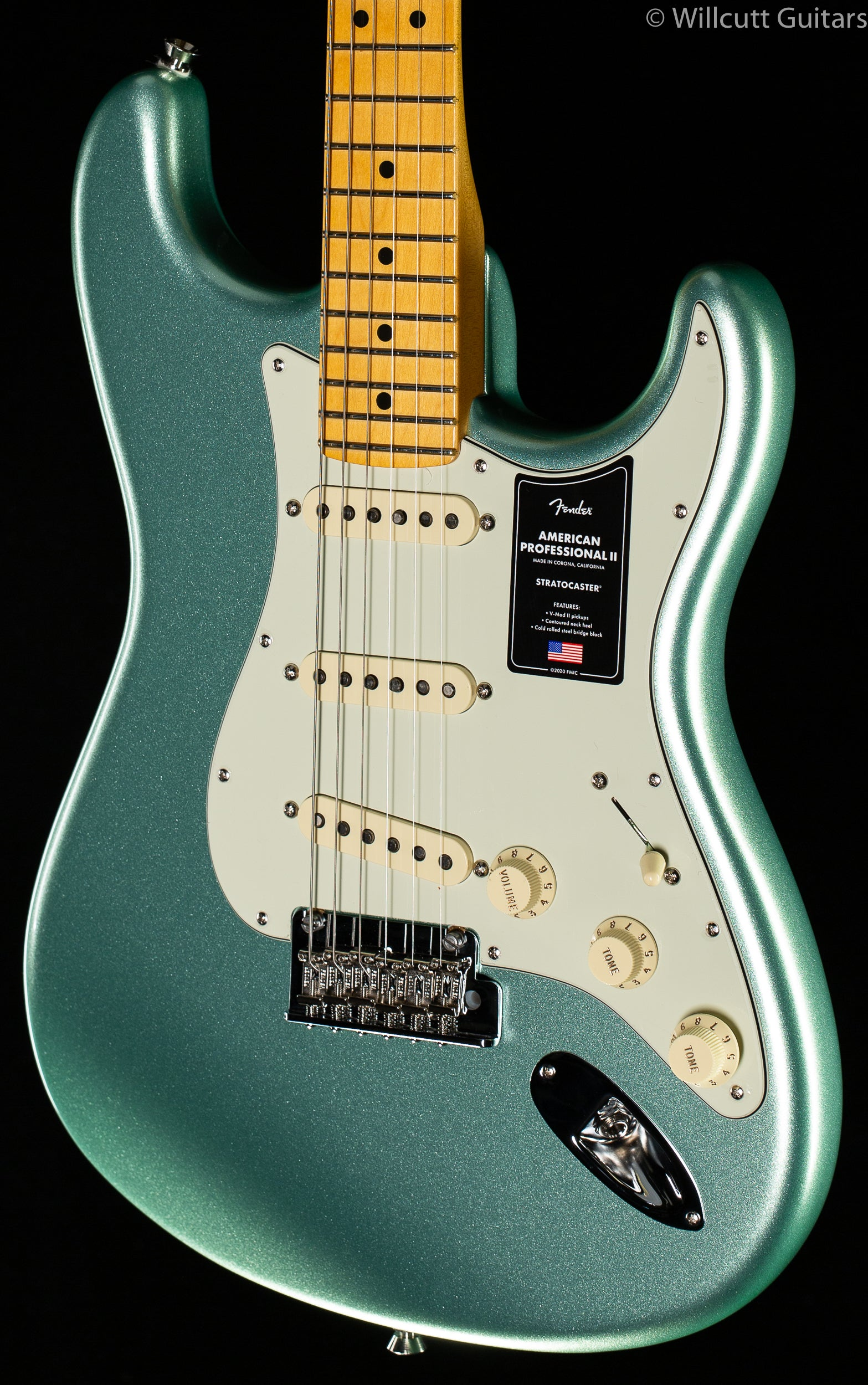 Fender American Professional II Stratocaster Mystic Surf Green Maple Fingerboard