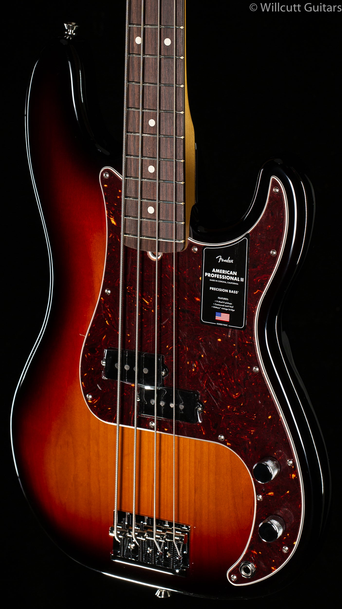 Fender American Professional II Precision Bass®, Rosewood Fingerboard, 3-Color Sunburst