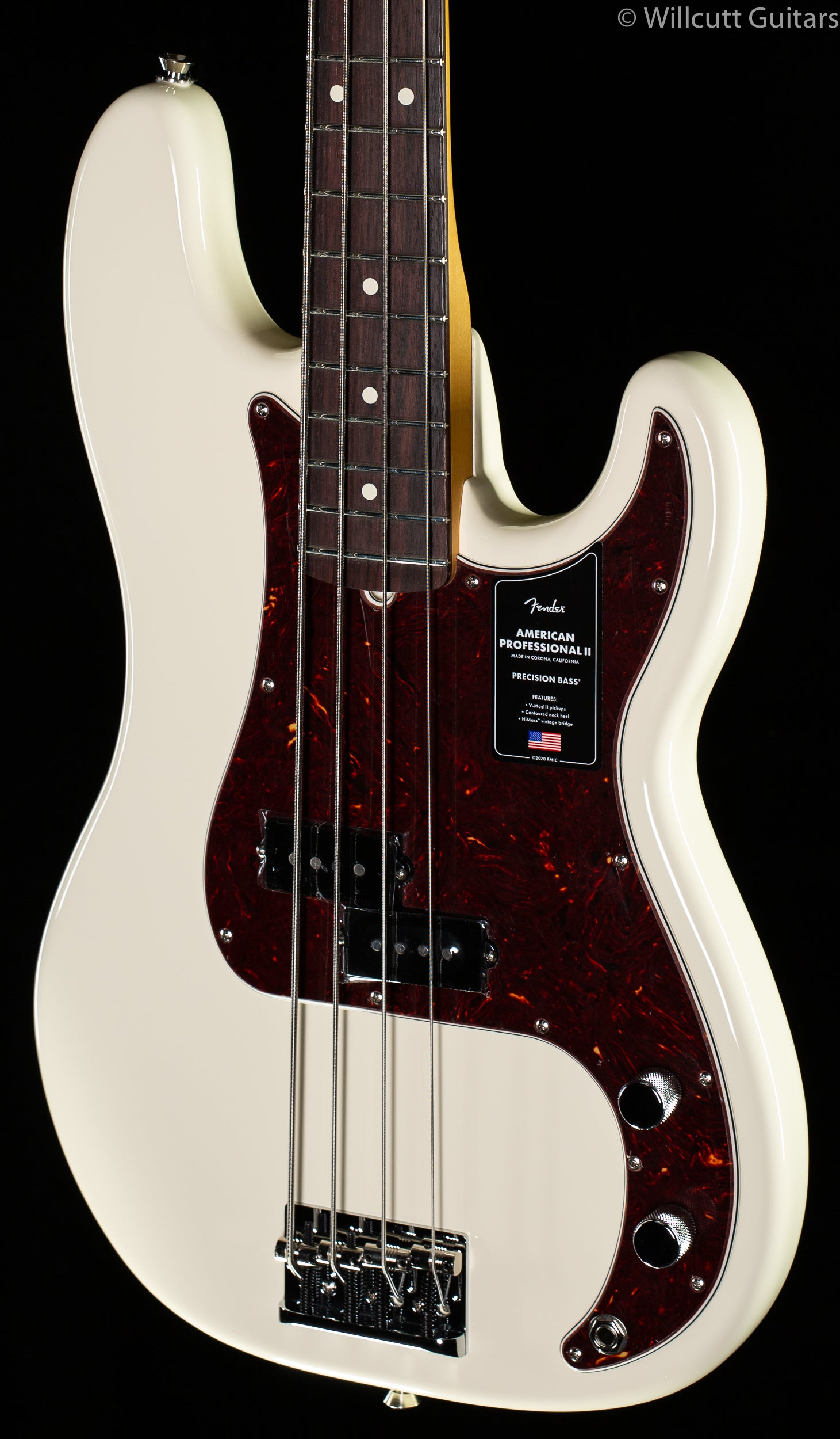 Fender American Professional II Precision Bass Olympic White Rosewood Fingerboard