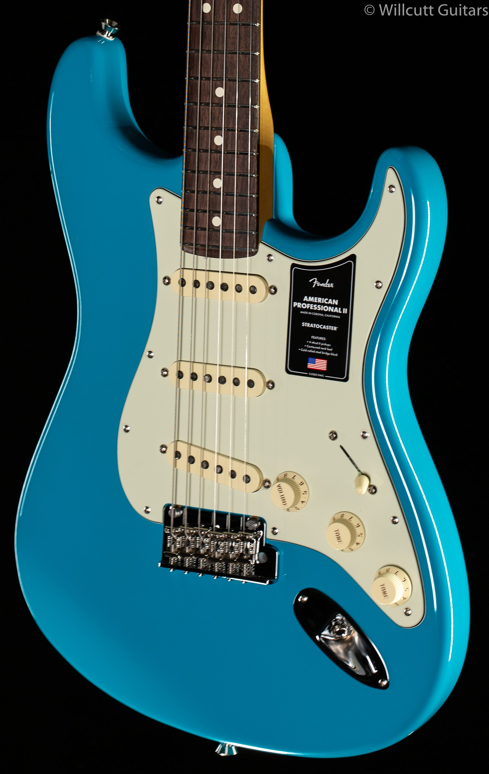 Fender American Professional II Stratocaster Miami Blue Rosewood Fingerboard