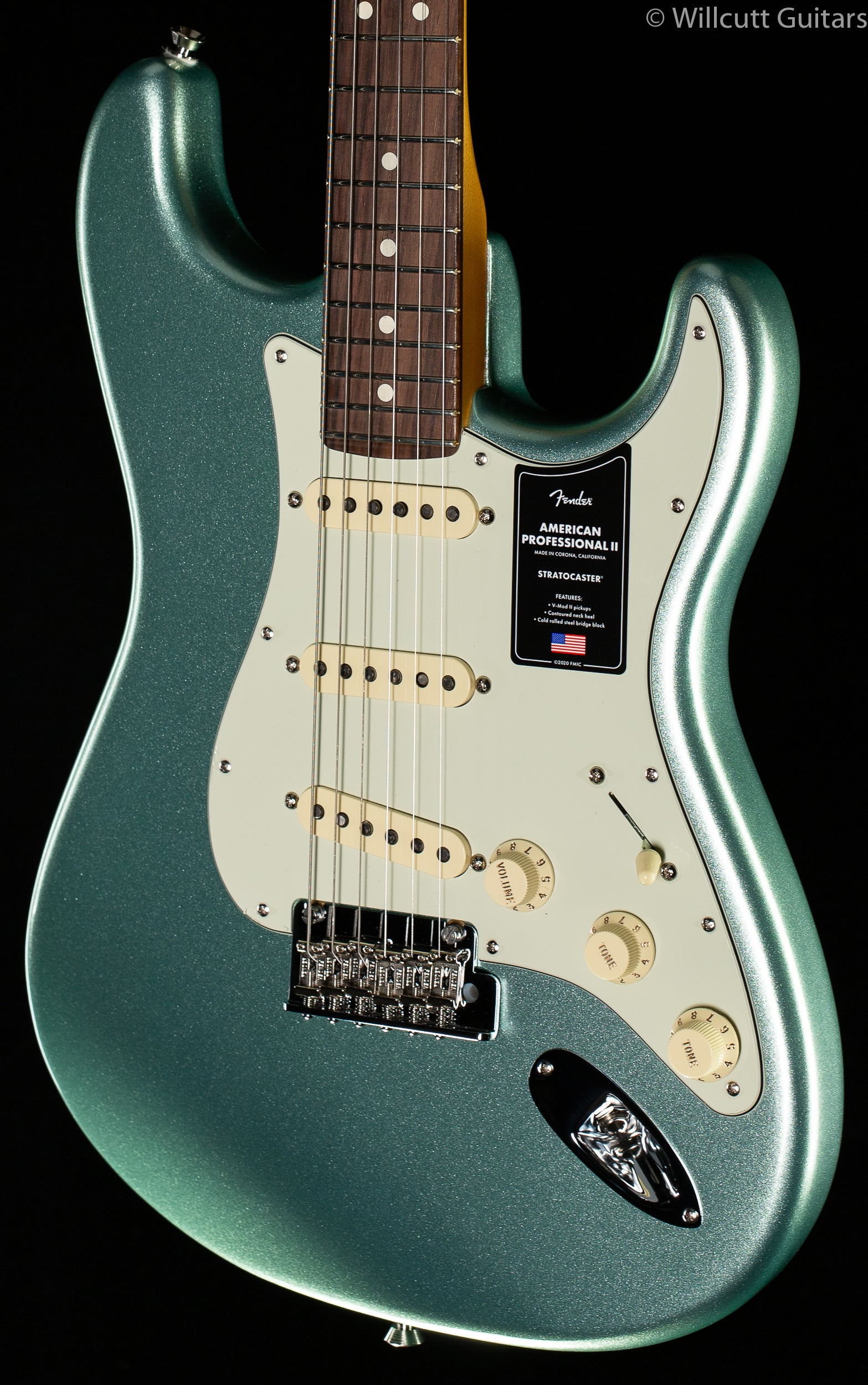 Fender American Professional II Stratocaster Mystic Surf Green Rosewood Fingerboard