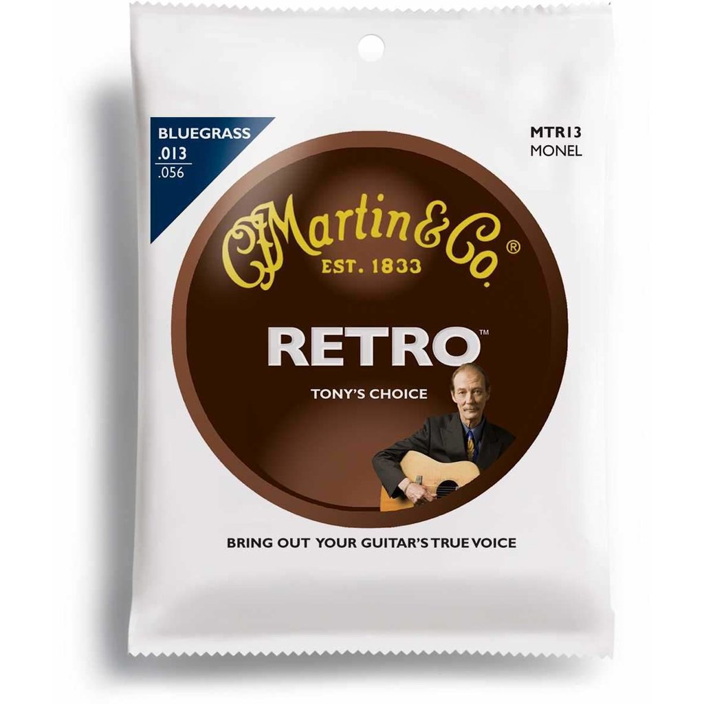 Martin Retro Acoustic Guitar Strings -.013-.056 Bluegrass - Tony Rice's Choice