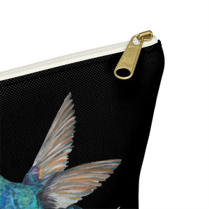 Humming Bird Accessory Pouch w T-bottom