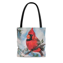 Load image into Gallery viewer, Winter Cardinal AOP Tote Bag