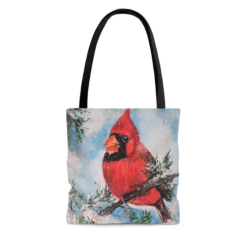 Winter Cardinal AOP Tote Bag