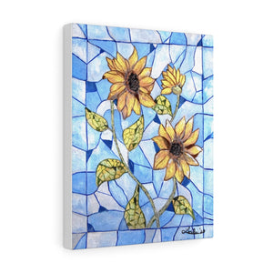 Sunflower Stained Glass Acrylic Painting Print Canvas Gallery Wraps