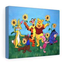 Load image into Gallery viewer, Winnie the Pooh Sunflowers Canvas Gallery Wraps