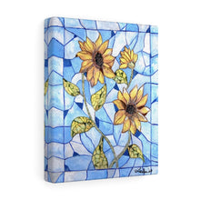 Load image into Gallery viewer, Sunflower Stained Glass Acrylic Painting Print Canvas Gallery Wraps