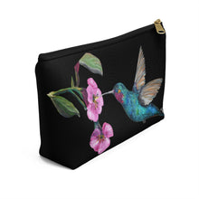 Load image into Gallery viewer, Humming Bird Accessory Pouch w T-bottom