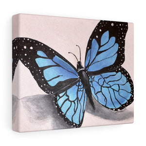 Blue Butterfly Print Canvas Gallery Wraps