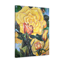 Load image into Gallery viewer, Yellow Rose Acrylic Painting Print Canvas Gallery Wraps