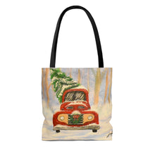 Load image into Gallery viewer, Christmas Truck Tote Bag