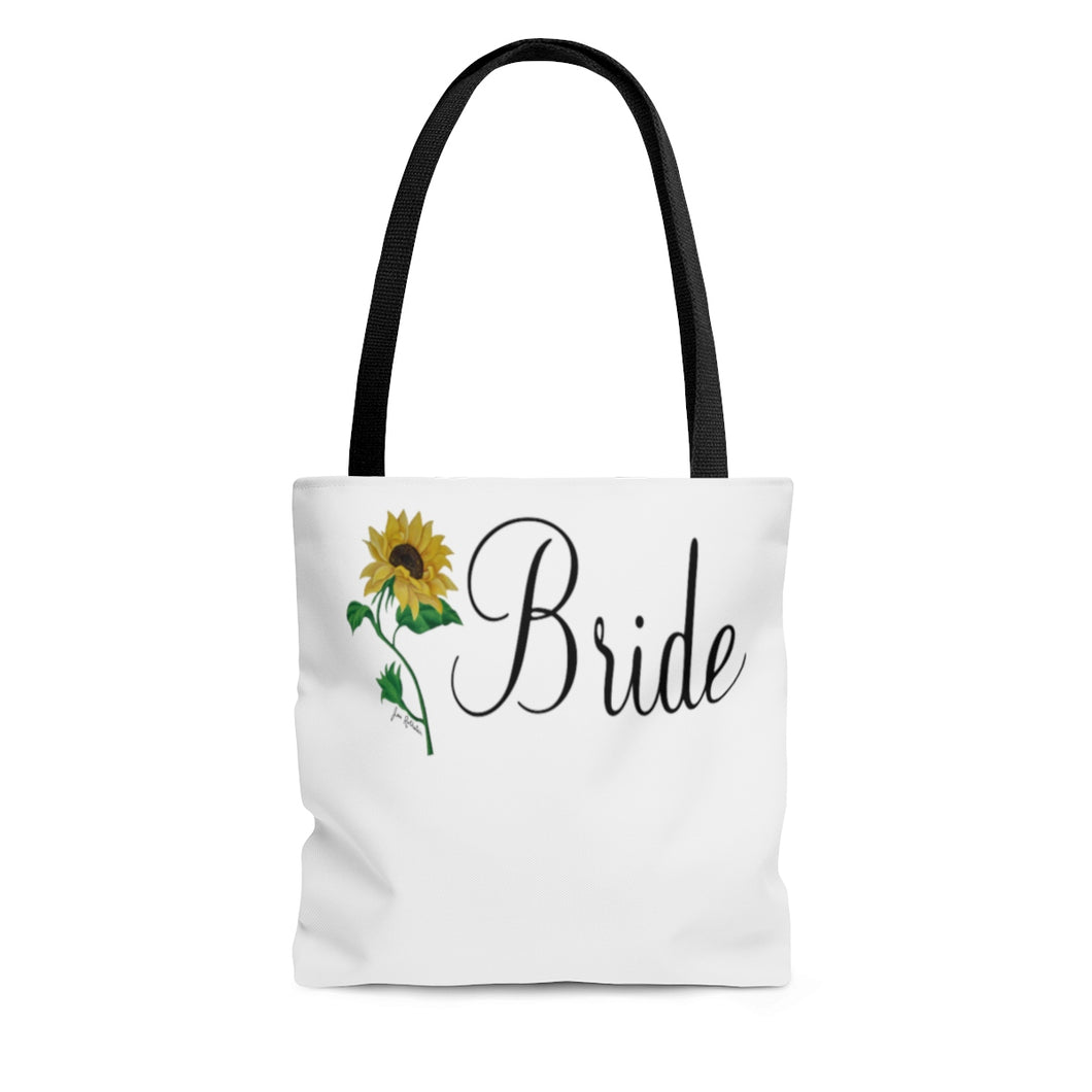 Sunflower Bride AOP Tote Bag