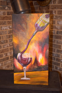 """Splash Of Wine"" Acrylic Canvas Painting"