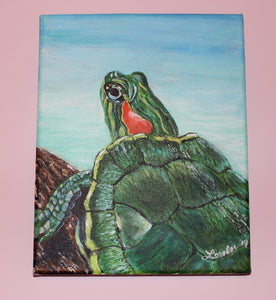 Turtle Acrylic Painting