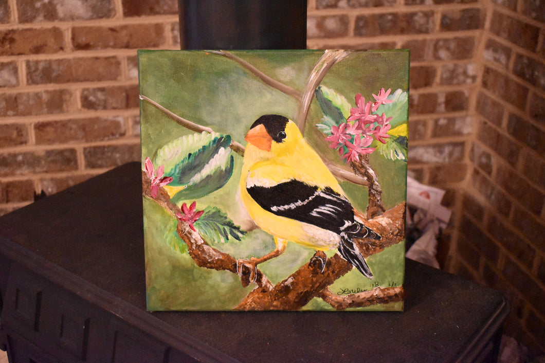 Yellow Finch Acrylic Canvas