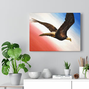 """Land Of The Free"" Acrylic Painting Print Canvas Gallery Wraps"