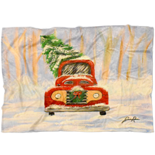 Load image into Gallery viewer, Christmas Truck Fleece Blanket