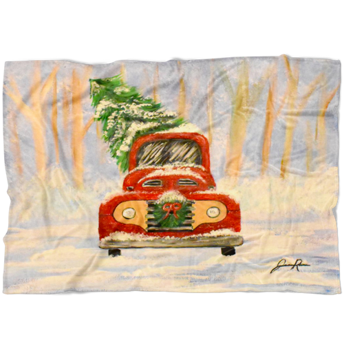 Christmas Truck Fleece Blanket