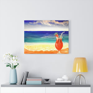 """Margarita"" Acrylic Painting Print Canvas Gallery Wraps"
