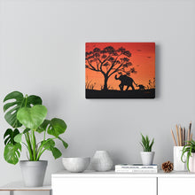 Load image into Gallery viewer, Elephant Silhouette Canvas Gallery Wraps Print