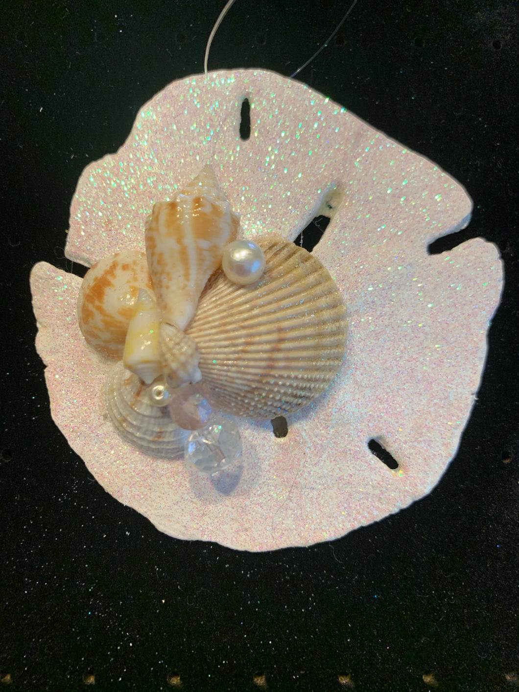 Sand Dollar Seashell Christmas Ornament