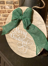 Load image into Gallery viewer, Merry Christmas Round Wooden Sign