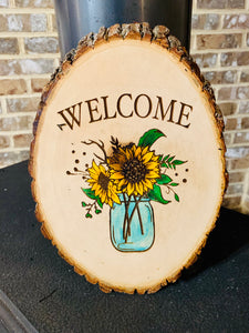 Welcome Sunflower Sign