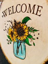 Load image into Gallery viewer, Welcome Sunflower Sign