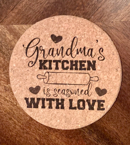 Grandma's Kitchen Is Seasoned With Love Trivet