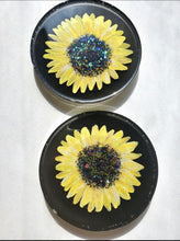 Load image into Gallery viewer, Sunflower Resin Coasters