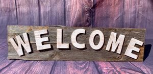 Welcome Rustic Sign