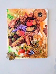 Thanksgiving Mixed Media Acrylic Painting