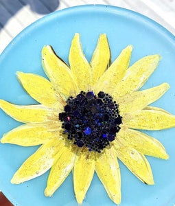 Sunflower Resin Coasters