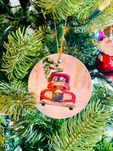 Load image into Gallery viewer, Christmas Truck Ceramic Ornaments