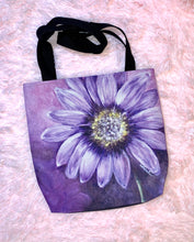 Load image into Gallery viewer, Purple Sunflower AOP Tote Bag