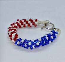 Load image into Gallery viewer, American Flag Bead Bracelets